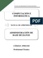89001560 Administración de Base de Datos