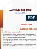 Customs Act 1962 AB Nawal