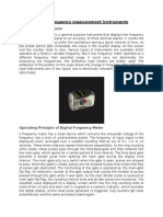 Digital Frequency Measurement Instruments