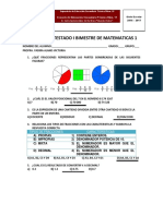 Examen Contestado Matemáticas i Bimestre Primer Grado