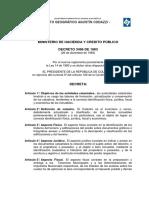 Decreto 3496 1983