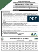 Ibfc 2015 Saeb Ba Tecnico de Registro de Comercio Prova