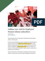 Aadhaar and EPF