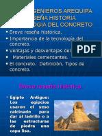 Tecnologia Del Concreto Resena Historica