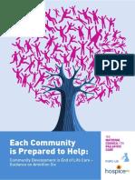 Community Developmnet in End of Care Each Community is Prepared to Help