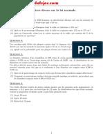 7exercices Loi Normale Et Corriges Www.coursdefsjes.com