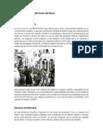 Escauelas de Interpretacion Historicas