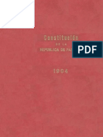 Panamá - Constitucion 1904