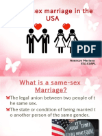 Same Sex Marriage in the USA