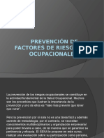 Prevención de Factores de Riesgo Ocupacionales