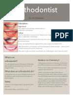 orthodontist career poster