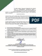 Primera Convocatoria Del Consejo Consultivo ITEI 23 feb 2017