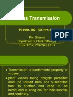 Lect. 7 Pl Path 502 Plant Virus Transmission