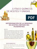 Analisís Físico Químicos de Aceites y Grasas