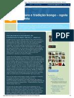 Cultura e Tradição Kongo - Ngola - Bantu_ Entendimento Referente as Divindades Kongo Angola - Angola