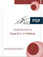 A&J Study Manual for SOA Exam P/CAS Exam 1