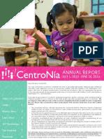 CentroNía Annual Report FY16