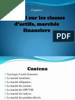 Chp1 Rappel Sur Les Classes d Actifs, March s Financiers