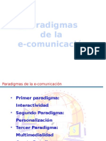 Paradigmas de La E-comunicacion