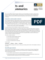 Abstracts and Other Summaries [New]