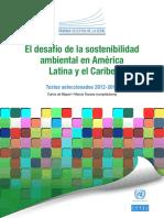 CEPAL 2015 El Desafío de La Sostenibilidad en AL
