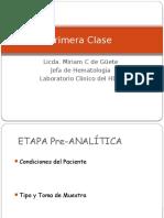 Clase 1 de Medicina F.preanaliitica