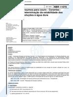 nbr 11070 - insumos para couro - corantes - determinacao da estabilidade das solucoes a agua dura.pdf