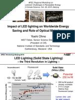 APEC, Impact of LED lighting on Worldwide Energy Saving and Role of Optical Metrology