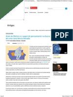 Alain de Botton e o Papel Do Pensamento Na Busca de Uma Consciência Elevada_Alain de Botton