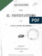 1862 Alejo Posse - Reflexiones Sobre El Protestantismo