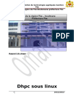 Rapport de Stage Au Sein de Wilaya Sujet Dhcp