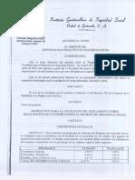 Acuerdo 36-2003 Aplicacion Del Reglamento 1118 Del Igss