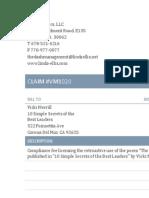Linda Ellis Copyright - Extortion Letter - Vicki Merrill