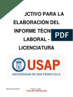 Informe Técnico Laboral Licenciatura