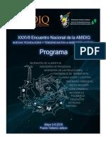 Programa Técnico Amidiq2016