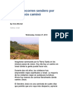 Turistas Sendero Por Donde Jesús Caminó