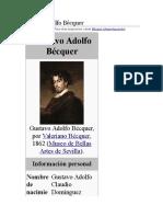 Gustavo Adolfo Bécquer Biografia