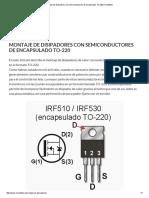 Montaje de Disipadores Con Semiconductores de Encapsulado to-220 _ Inventable