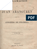 1869 Juan Aranguren - Reclamación ante el congreso