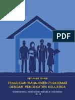 Petunjuk Teknis Penguatan Manajemen Puskesmas Dengan Pendekatan Keluarga