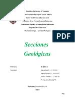 secciones geologicas