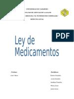 Actividad 2. Ley de Medicamentos. Medicina Legal. Rotacion 2, Toxicología..docx
