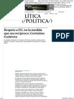22-02-17 Respeto a EU, En La Medida Que Sea Recíproco- Gerónimo Gutiérrez - Grupo Milenio