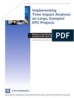 Implementing TIA Analysis on Large Complex EPC Projects