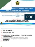 05.-Kebijakan-Perencanaan-Produksi-dan-Pemanfaatan-Minerba-19102015-Yogyakarta.-22-Okt-2015.pptx