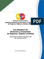 Ley Orgánica de Donacion y Trasplante