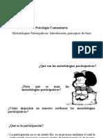 12. Metodologías Participativas Introducción Principios de Base