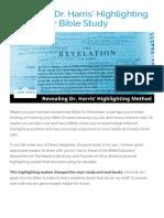Revealing Dr Harris Highlighting Method for Bible Study