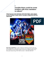 Chris Wyse - Kiss Army Argentina - Interview - February 2017
