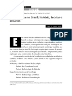 A Sociologia No Brasil História Teorias e
